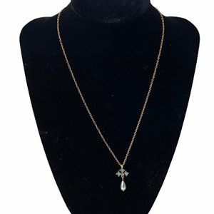 Avon Royal Highlights Pearl Drop Pendant Necklace